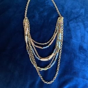Jewelry - Layered Beaded Gold Chain Necklace